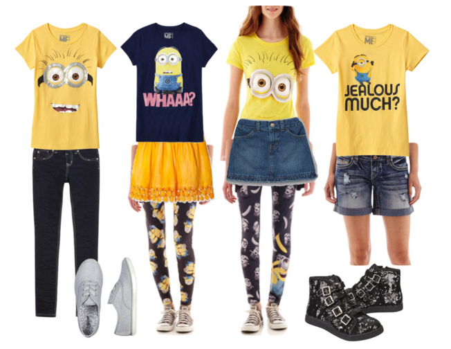 Minions inspired outfits