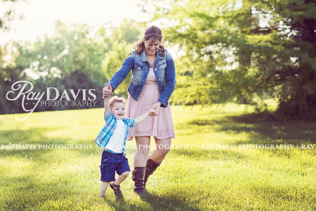 Ray Davis Photography - Mother and son photography playing in the park