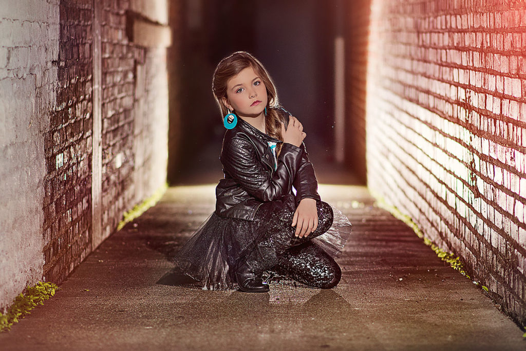 Louisville tween urban alley way portrait
