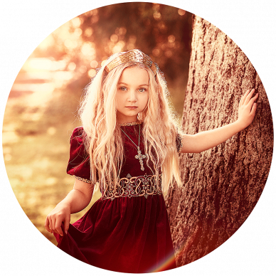 Little Girl Dressed as Princess wearing gold crown taken by Best Louisville KY Photographer