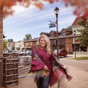 Social Media Influencer walking through Westport Village wearing Darling State of Mind