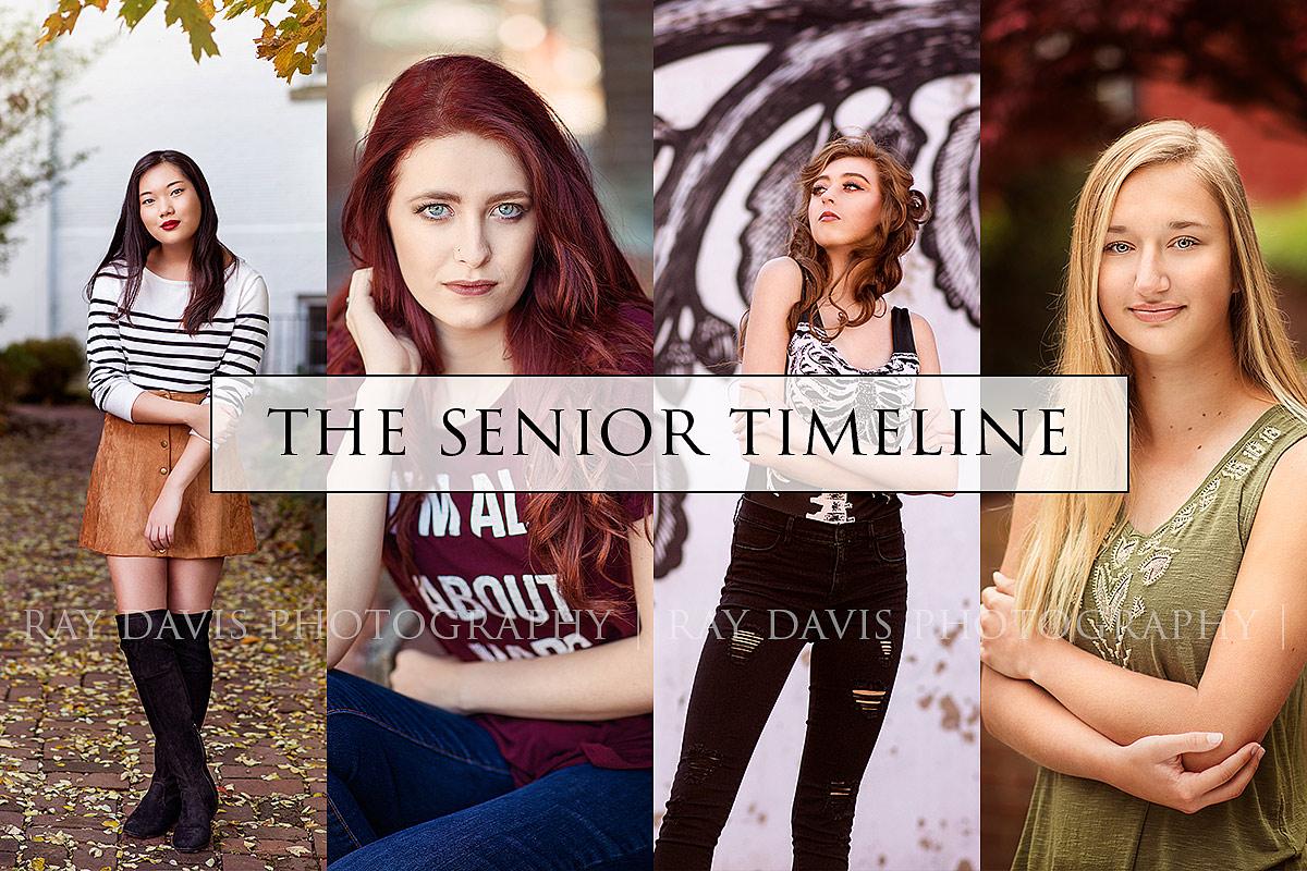 Senior Session Timeline by Louisville Senior Photographer
