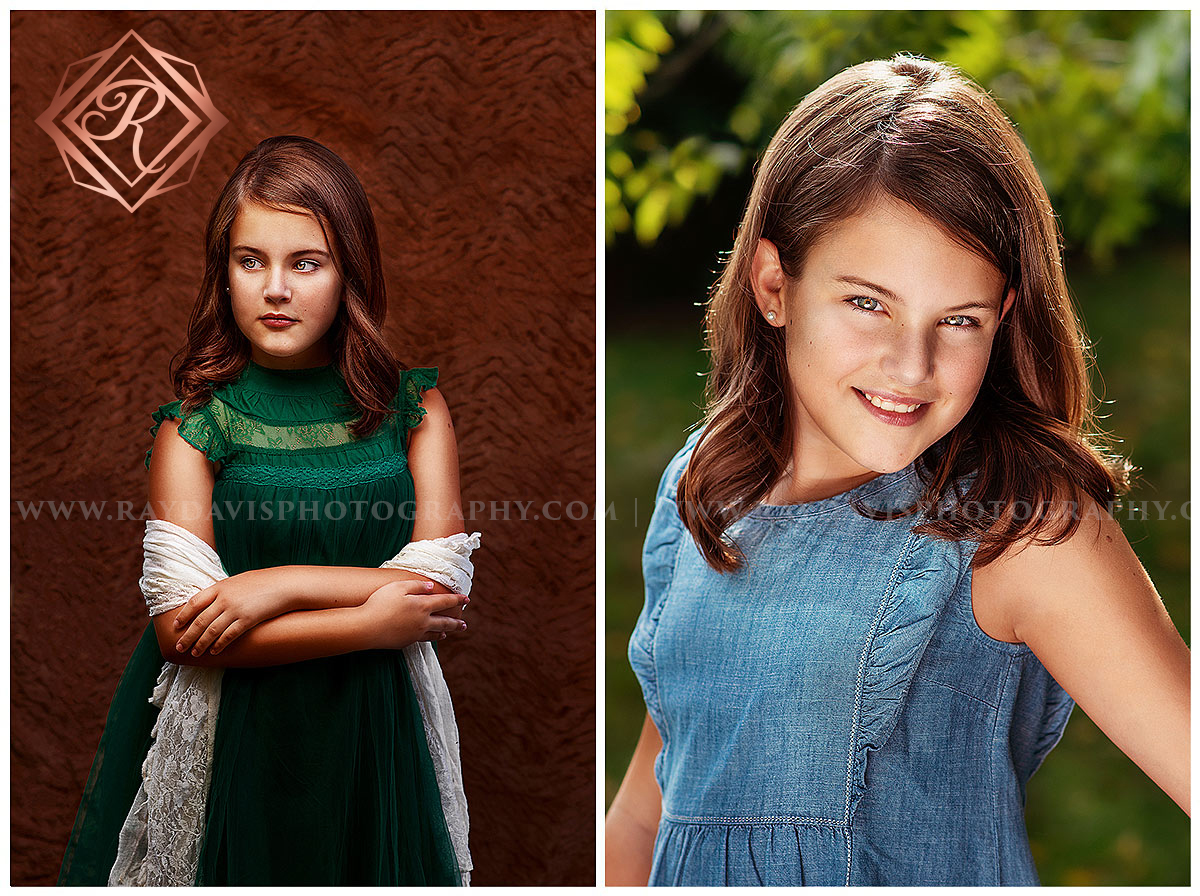 10 year old girl headshots for bday photosession ideas with Louisville Tween Photographer Ray Davis Photography