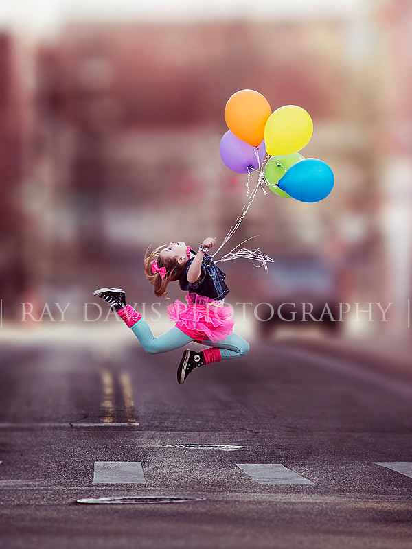 Ten Year Old Girl Birthday Photos Idea with Balloons by Louisville Child Photographer