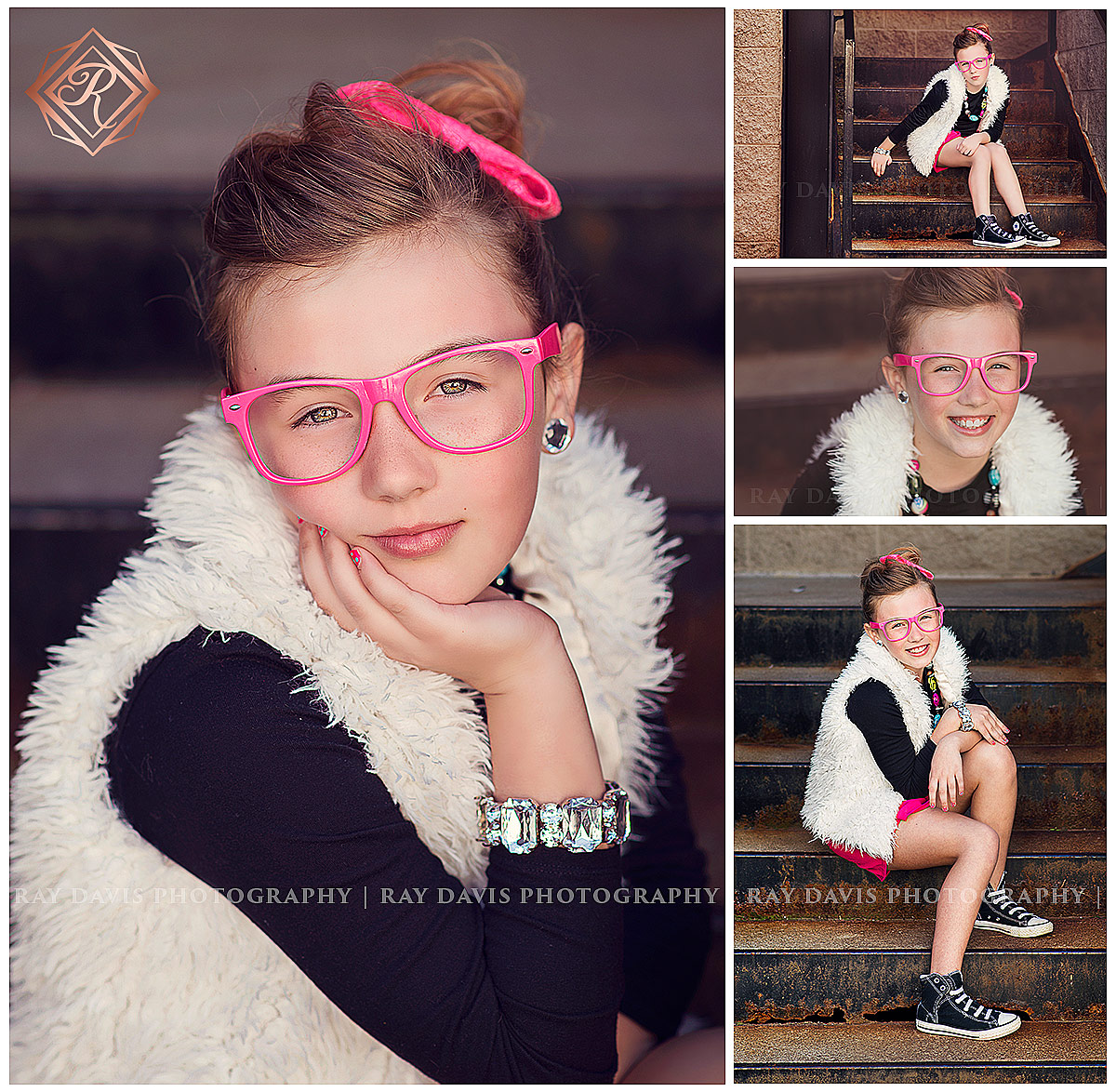 10 year old girl enjoying 10th birthday ideas photosession activity with Louisville Tween Photographer