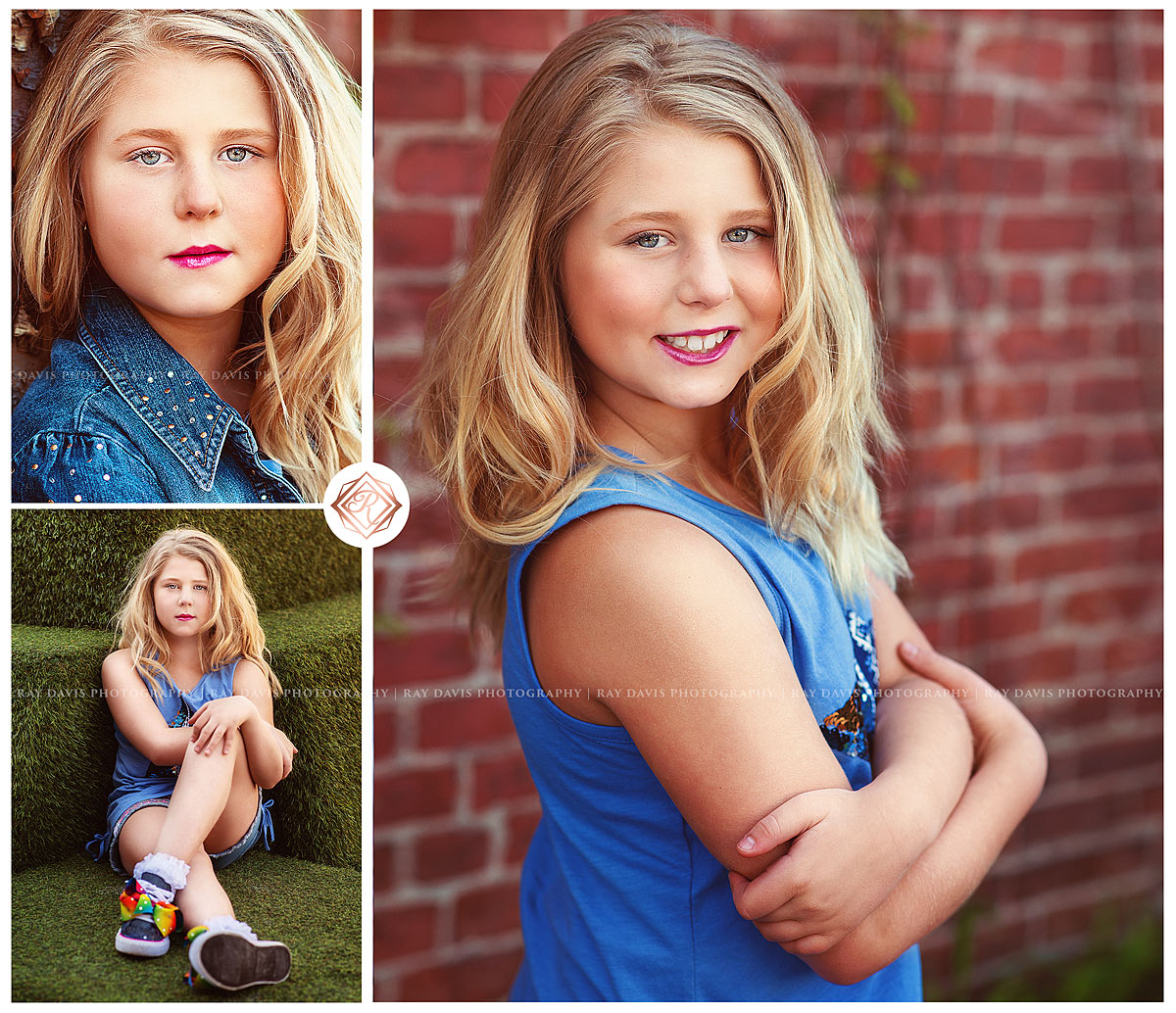 Tween Girl portraits from child photosession in mixed urban style