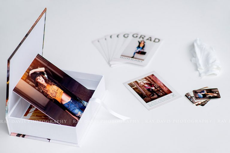 Printed Photos and Collection Case with Graduation Cards by Louisville Senior Photographer Ray Davis Photography
