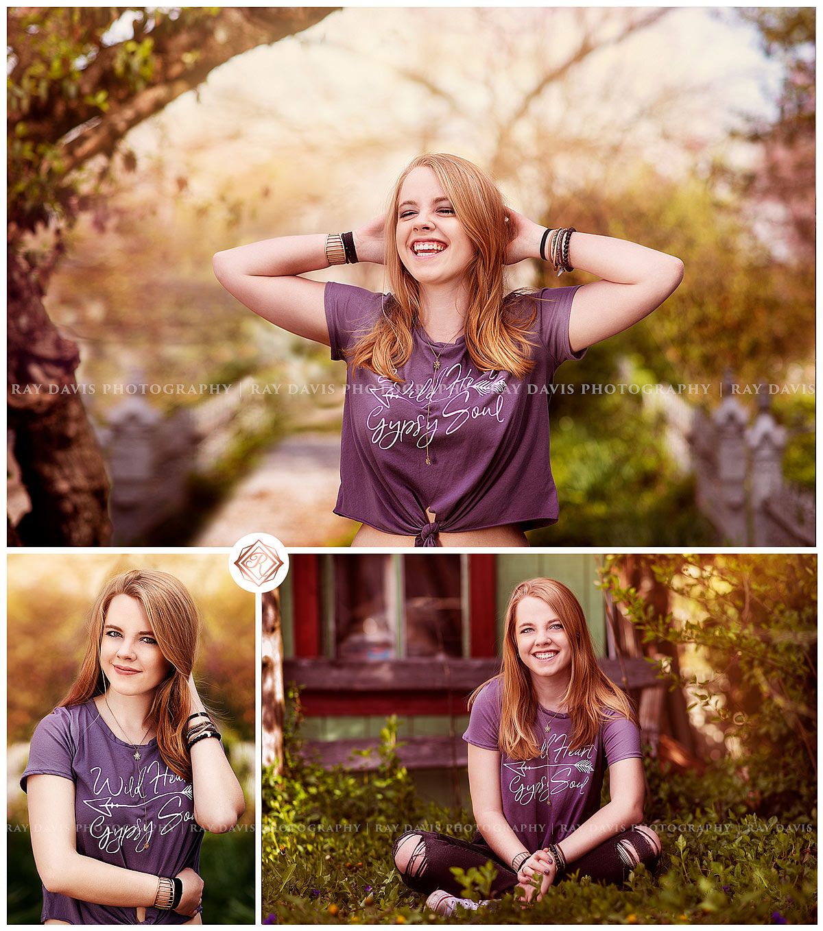 oldham county high school girl during spring portrait session with Louisville Senior Photographer Ray Davis Photography