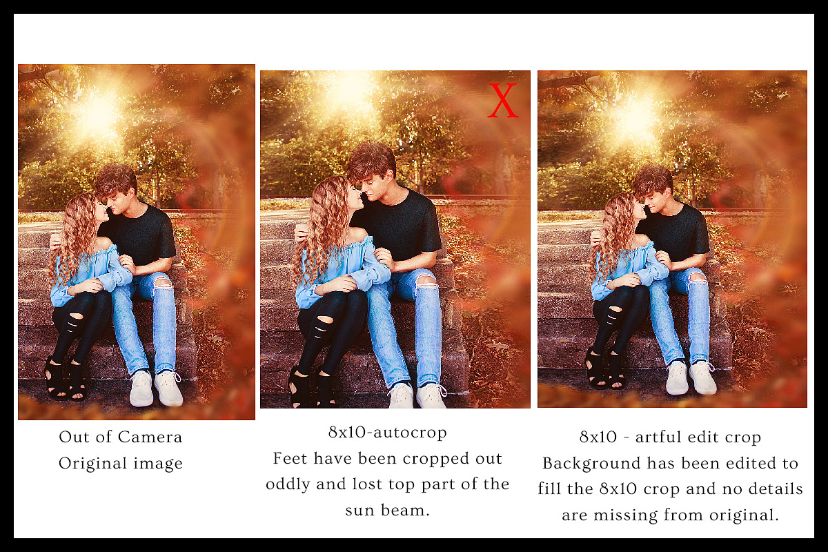 Crop Ratio artful editing to fit print sizes depiction by Ray Davis Photography