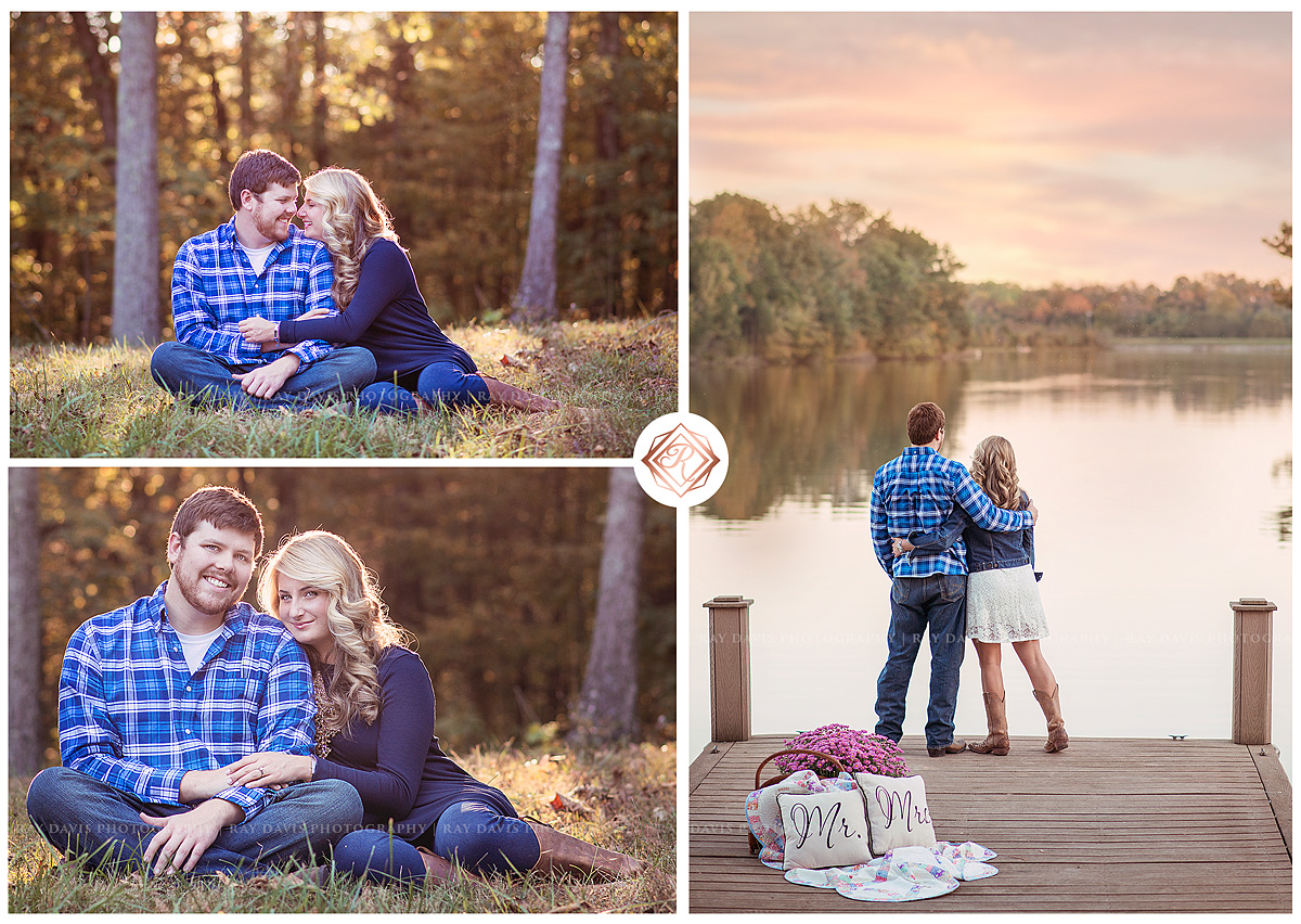 Enegagement portraits on Beaver Lake by Louisville Family Photographer