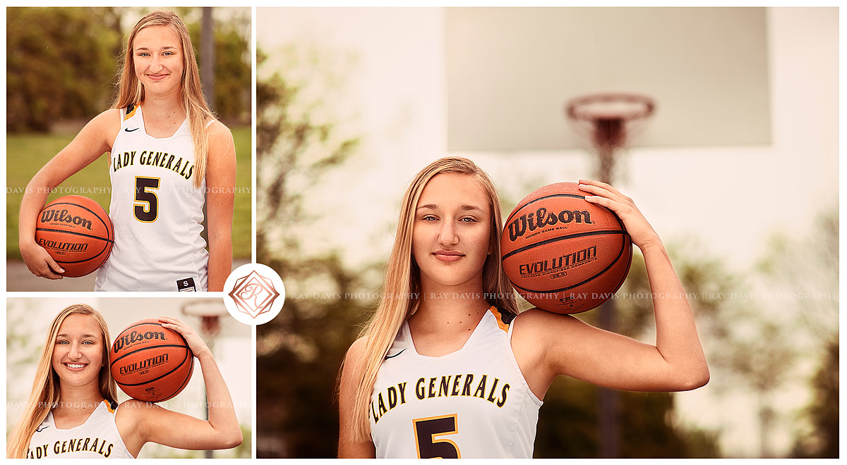 Clarksville high school girl with basketball by Louisville Senior Photographer