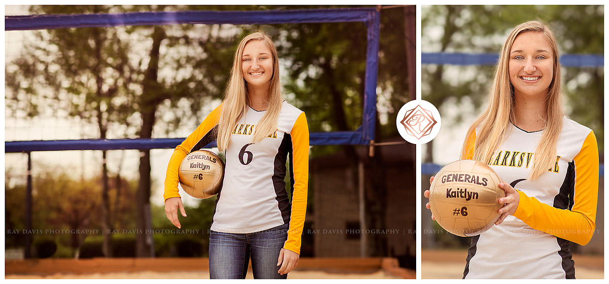Clarksville High School Lady Generals Volleyball Girl Senior Pictures by Louisville KY Photographer