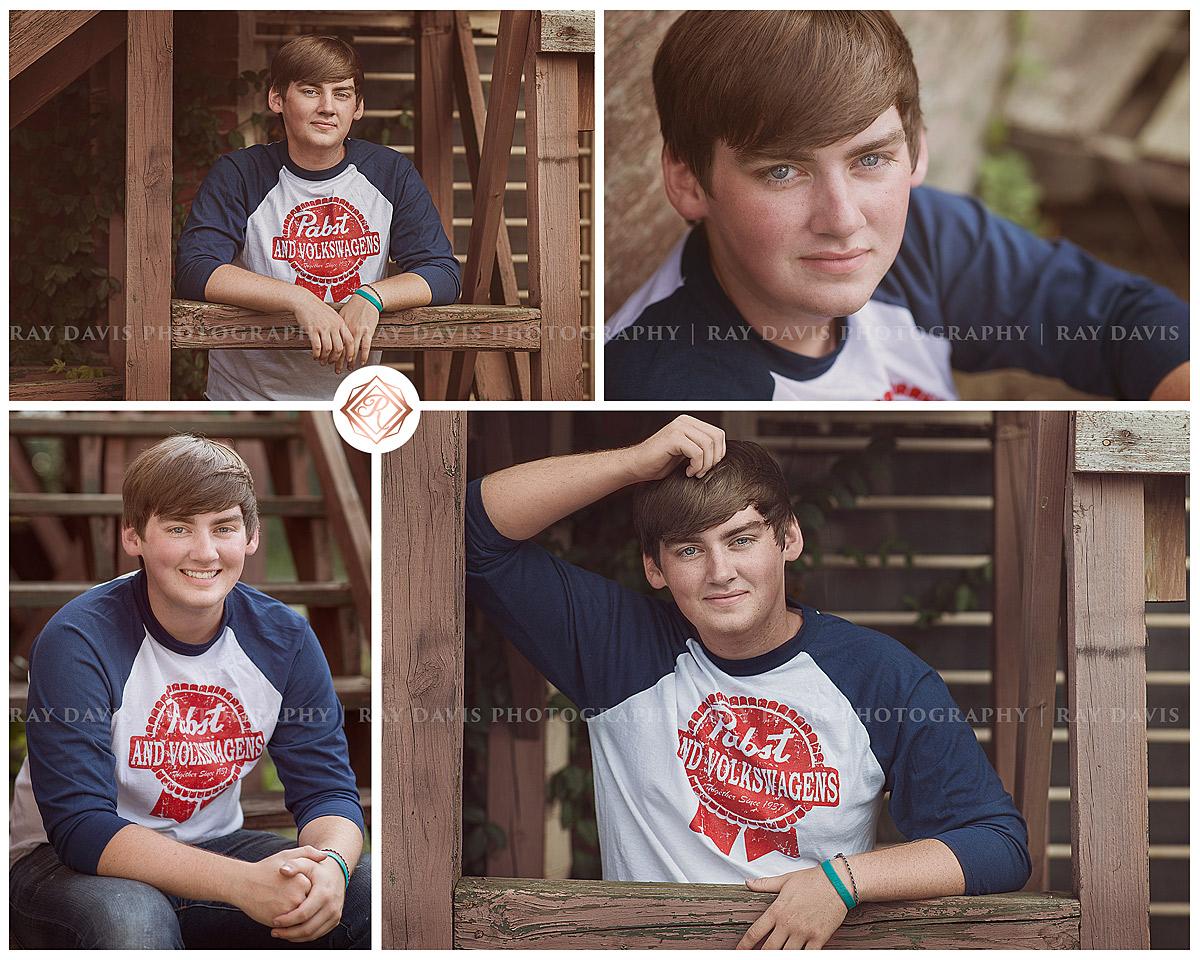 oldham county high school senior guy portrait with brown tones