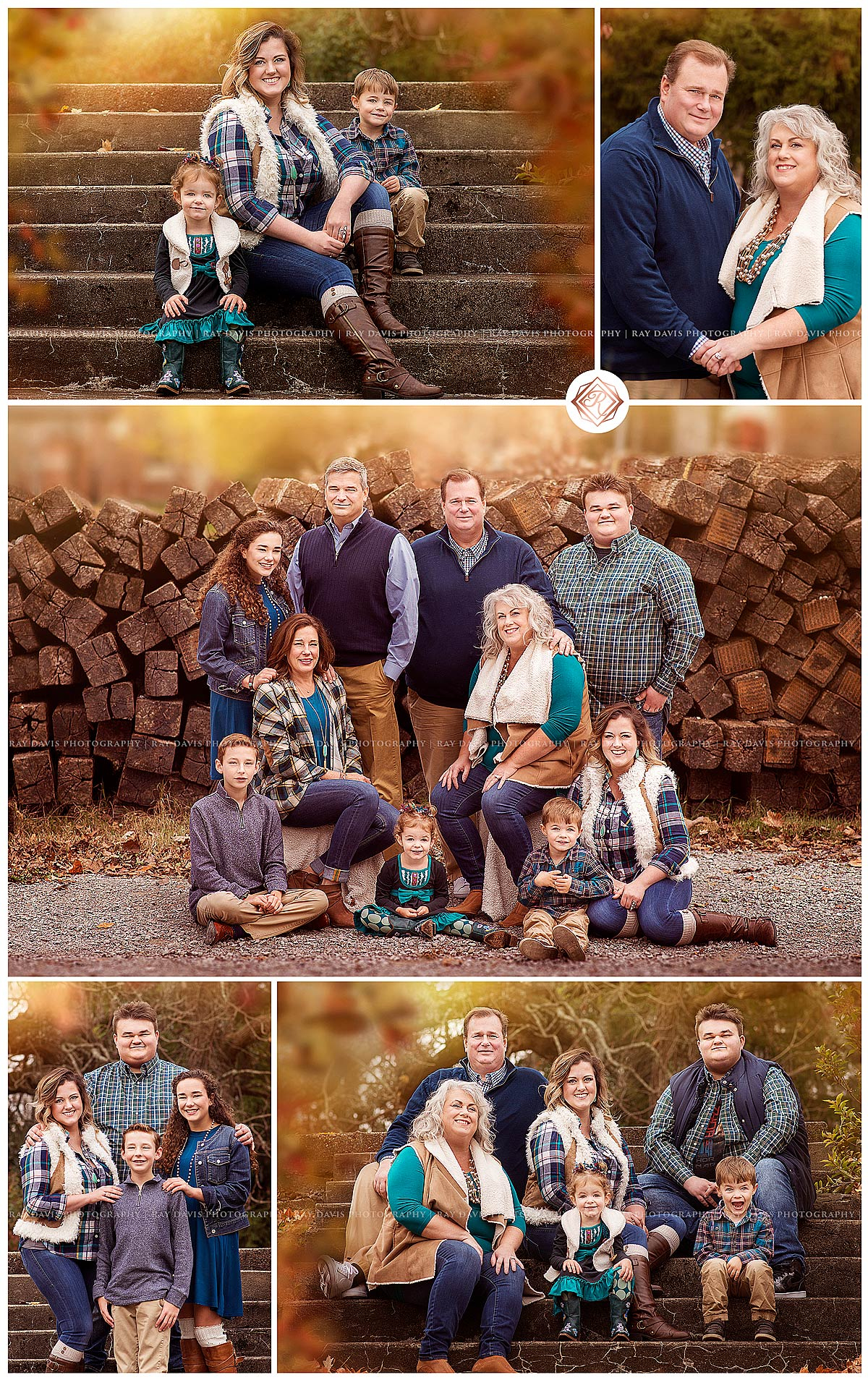 Family Fall pictures of large extended family in Louisville KY by Ray Davis Photography