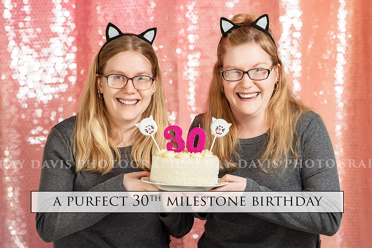 Louisville Birthday Photographer captures 30th Birthday twins cat theme session