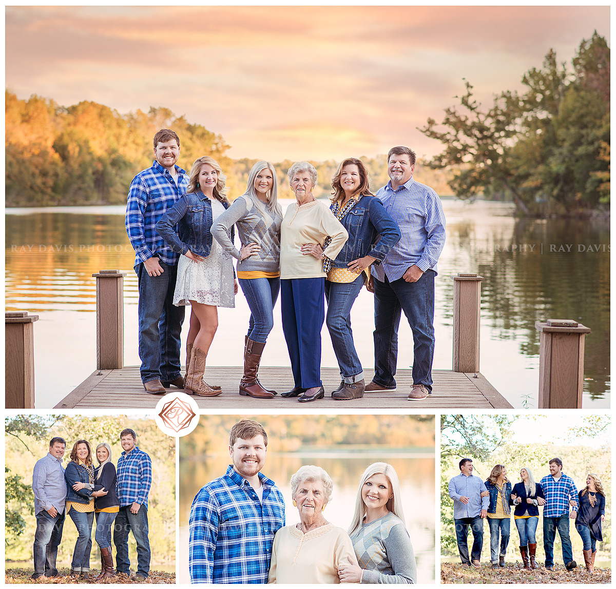 Family on lake home taken by Louisville family photographer Ray Davis Photography