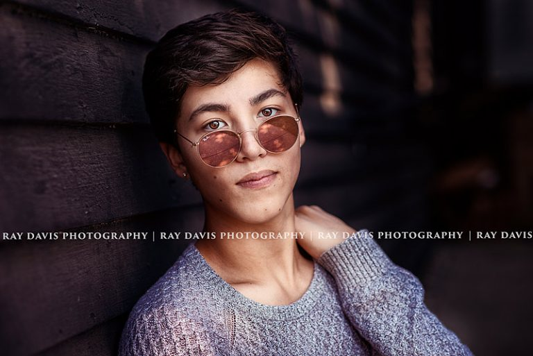 Senior Boy pose with glasses for Model headshots by Ray Davis Photography