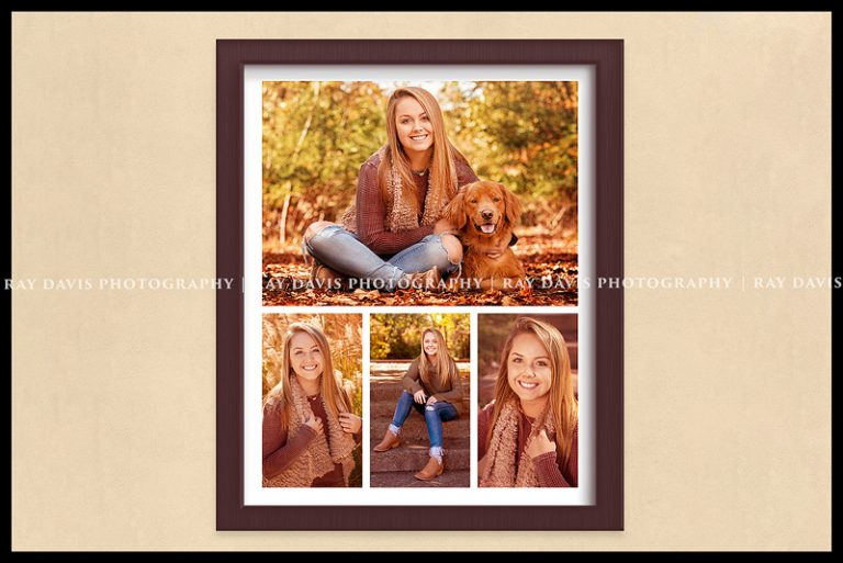 senior photo collage of framed wall art printed by Louisville Photographer
