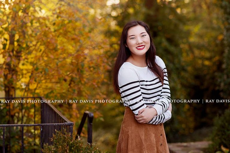 Girl in vintage suede skirt for Louisville Senior Pictures